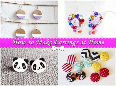 make jewelry at home for a company how to make earrings at home