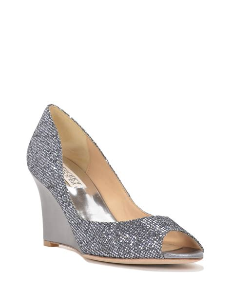 Evening Shoes by Badgley Mischka Awake Metallic Wedge Evening Shoe In