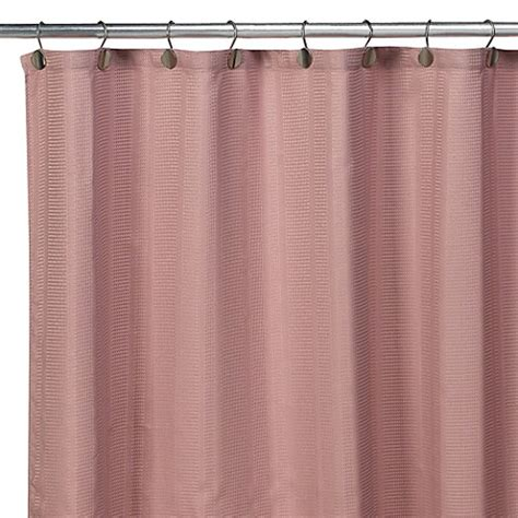 Westerly Fabric Shower Curtain Dusty Rose Bed Bath