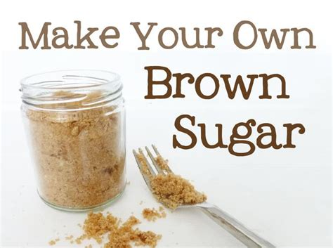 brown sugar substitute make brown sugar at home all