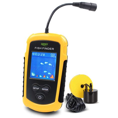 Free Finders Free Shipping Sale Alarm 100m Portable Sonar Lcd Fish Finders Fishing Lure Echo