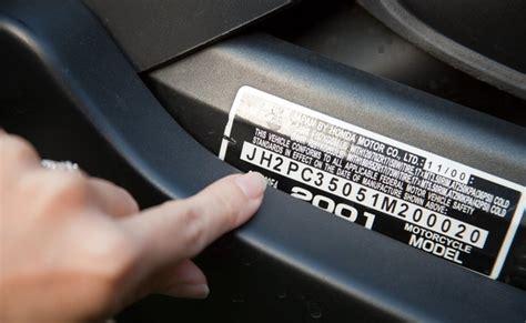 decode  vin number   honda motorcycle