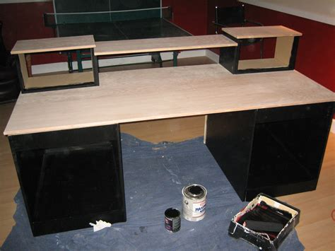 diy mdf desk diy desk build inspired by many gearslutz