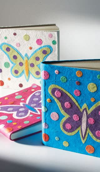 Handmade Paper For Sale - handmade paper notebook with butterfly gt sale notebooks