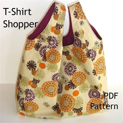 pattern tote bag reversible tote sewing pattern reversible t shirt shopper pdf bag