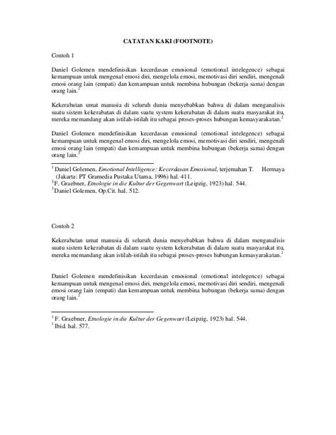 contoh penulisan catatan kaki footnote contoh oliv liran catatan kaki