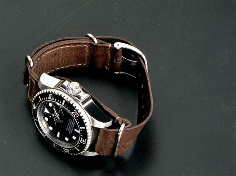 Handmade Leather Nato - leather nato straps oyster homages homageforum
