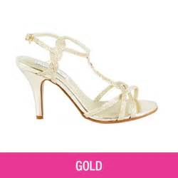 heeled prom shoes in gold silver white