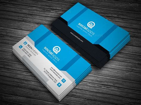 3d business cards templates 3d effect business card template 000143 template catalog