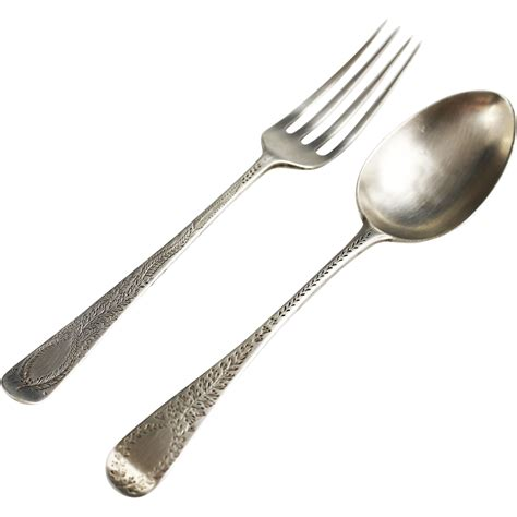 spoon and fork antique sterling silver dinner spoon and fork