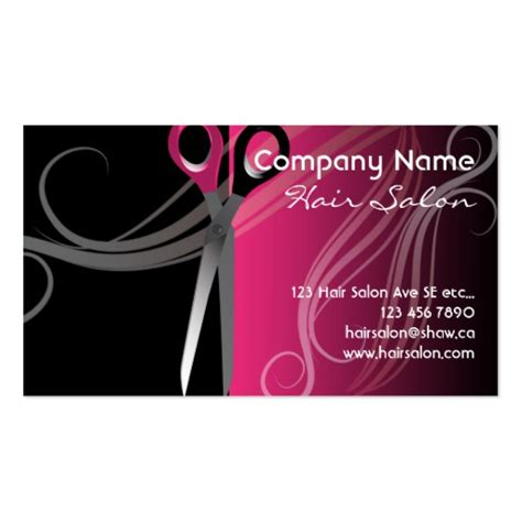 Hair Business Card Template by Salon Business Cards 16000 Salon Business Card Templates