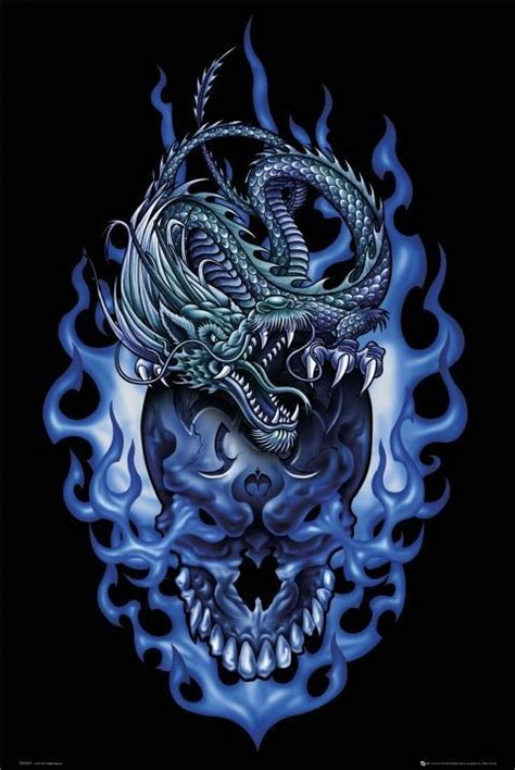 odm dragon skull poster sold at europosters