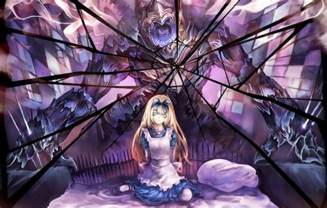 wallpaper anime mirror wallpaper alice suzuya alice in wonderland nightmare