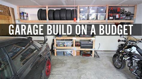 diy garage build part  building shelves  tire rack youtube