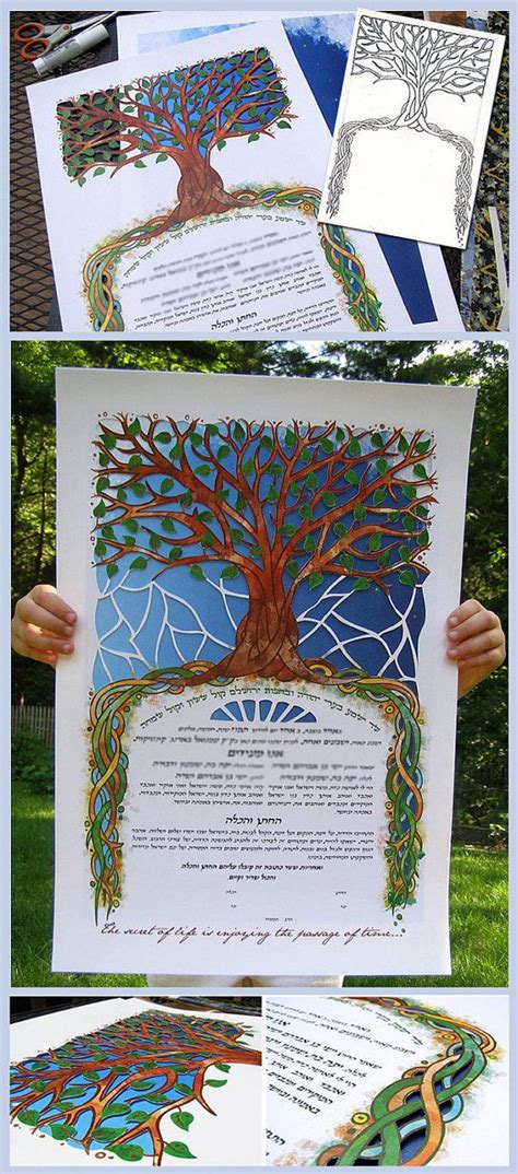 Handmade Ketubah - 17 best images about ketubah and other on
