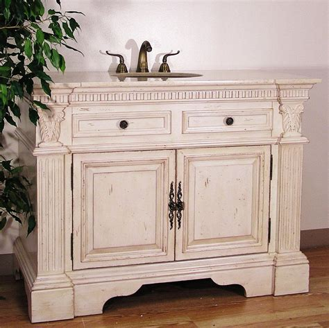 Vintage Bathroom Vanity Cabinet Antique White Bathroom Vanities Remodeling Bathroom Bathroom Vanities Furniture And Sinks
