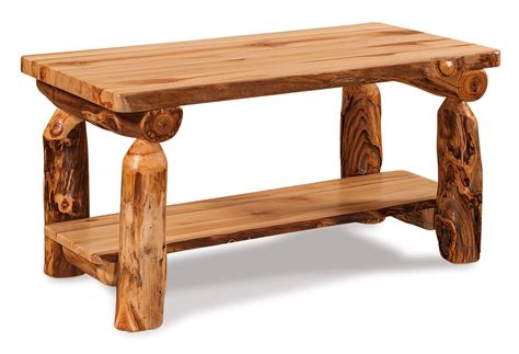 Rustic Log Coffee Table Rustic Log Coffee Table Wit Shelf From Dutchcrafters
