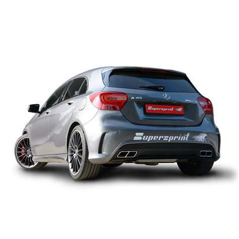 mercedes amg 45 new supersprint performance exhaust for mercedes a45 amg