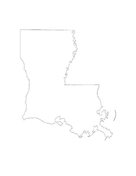 louisiana state map outline louisiana state s outlines printable pictures to pin on