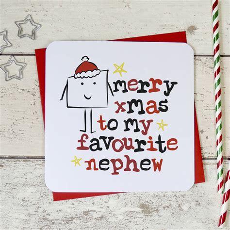 merry christmas   favourite niecenephew card  parsy card  notonthehighstreetcom