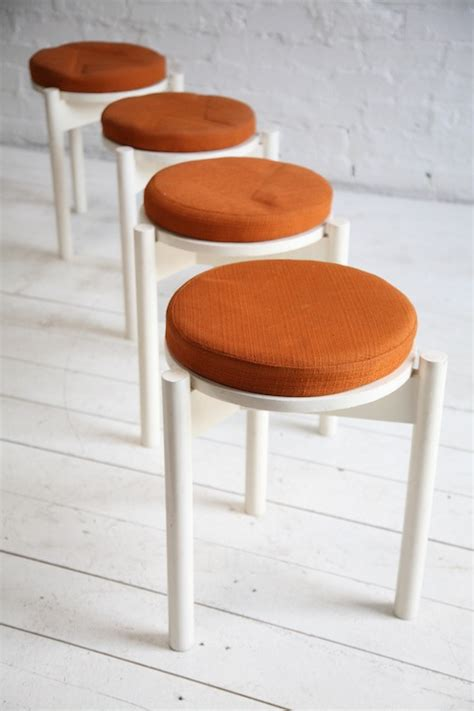 Stacking Stools by 1960s Stacking Stools And Chrome