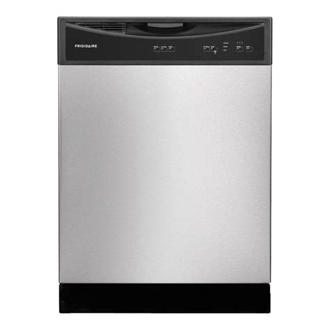frigidaire front dishwasher in black ffbd2406nb