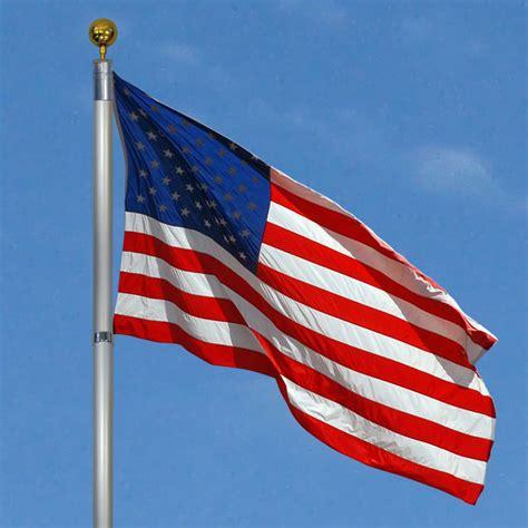 Garden Flag Pole New Flagpole Telescopic 25 Aluminum Flag Pole Outdoor