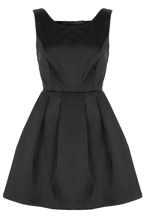 Topshops Bow Back Dress by Topshop Duchess Satin Bow Back Prom Dress In Black Lyst
