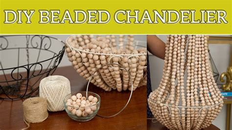 how to make home decor diy home decor beaded chandelier youtube