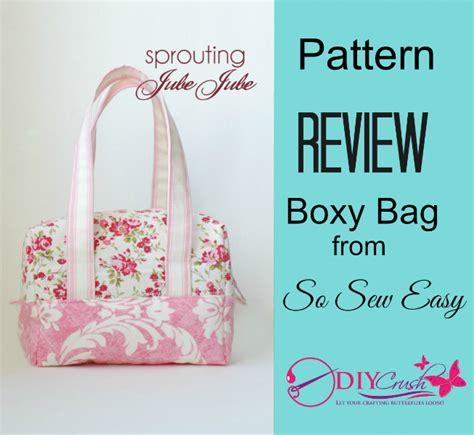free sewing patterns so sew easy pattern review so sew easy boxy bag sewing pattern diy
