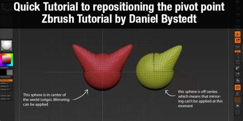 zbrush quick tutorial quick tutorial to repositioning the pivot point zbrush