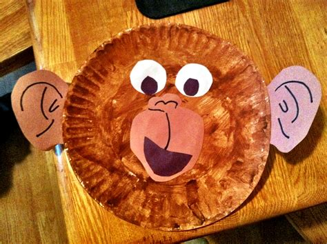 Paper Plate Monkey Craft - from to toe free printables and crafts