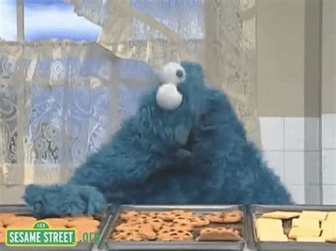 sesame street cookie monster gif find  gifer