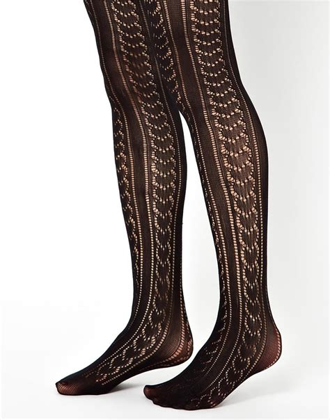 Gipsy Black gipsy and pinstripe tights in black lyst