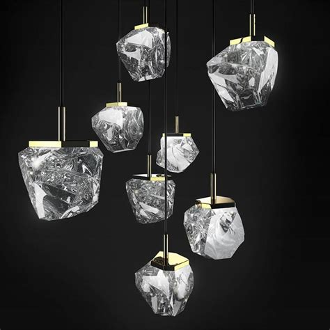 decorative objects for home ls and lighting home decor the purity of the crystals in swarovski s rugged looking rock