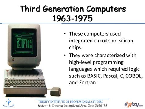 third generation computers used integrated circuits introduction to computers and i t generations of computers
