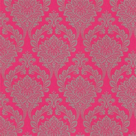 wallpaper pink uk bold damask wallpaper print by arthouse at wallpaperdirect