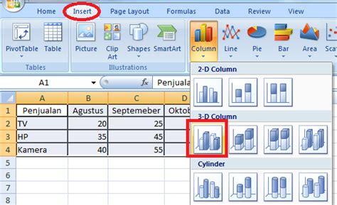 bagaimana cara membuat grafik di excel 2010 membuat dan merubah jenis grafik di excel secara cepat