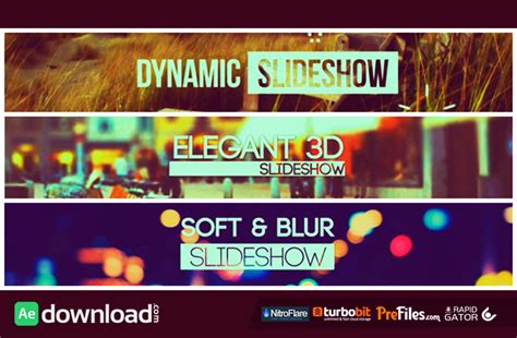 slideshow template after effects free download slideshow pack 3 in 1 videohive project free download