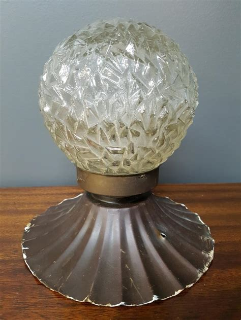 crackle glass l globe mid century crackle glass globe fixture