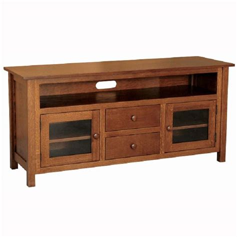 Hickory White Dining Room Furniture by Mission Tv Stand Home Wood Furniture