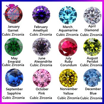 gem colors gemstone cz and color chart for sale buy colorful