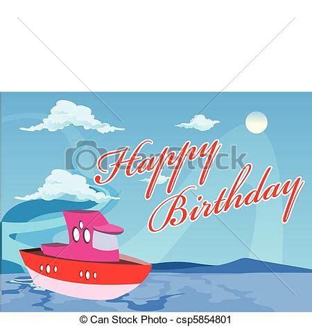 boat birthday clipart clip art vecteur de vecteur anniversaire bateau