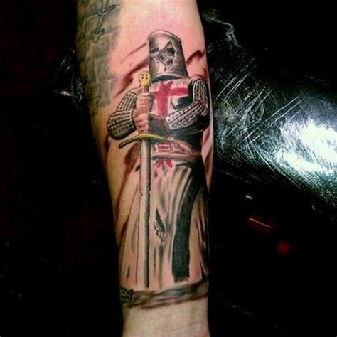 english knight tattoo designs superior colored forearm of