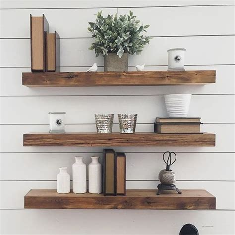 reclaimed floating wood shelves thick reclaimed wood