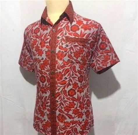 Kemeja Cowo Combi Batik jual kemeja baju hem batik pria cowok laki slimfit junkies motif combi h5 javabatika