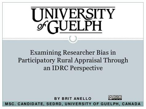 Pra Participatory Rural Appraisal researcher bias in participatory rural appraisal