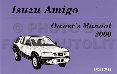 service manual 2000 isuzu amigo repair manual free new 2000 isuzu amigo owners manual package with extras original oem owner guide ebay