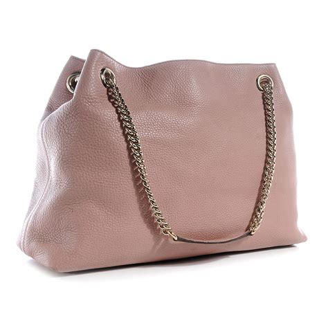 Cccnkkk Pink Chain Leather 100 Authentic gucci leather medium soho chain shoulder bag light pink 59838