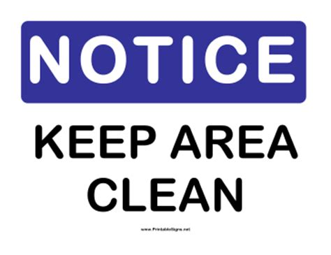 free printable keep area clean signs pin welcome letter template syllabus conference planner on